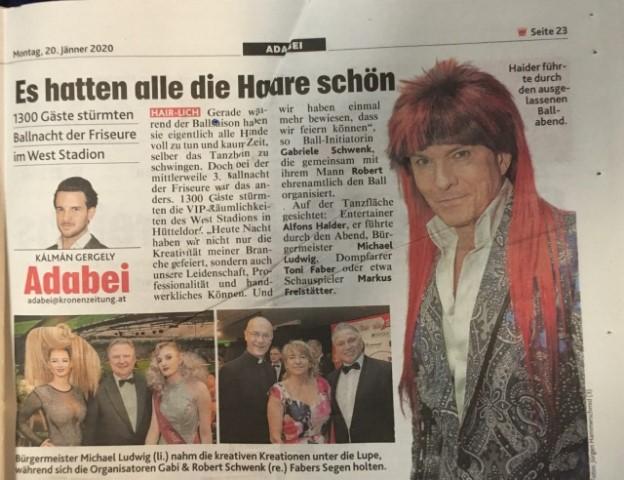 Bericht in der Kronen Zeitung am 20.01.2020